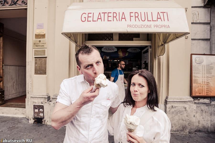 Настоящее итальянское мороженное в Риме