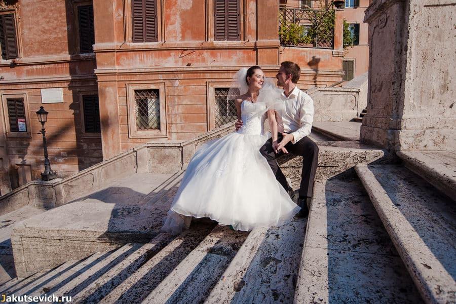 Фотосессия на испанской лестнице в Риме