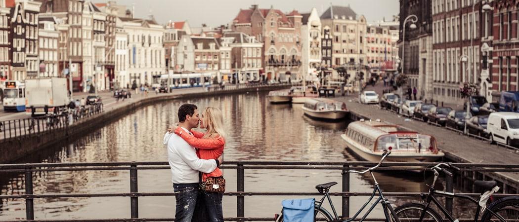 Фотосессия в Амстердаме в октябре для Лены и Димы