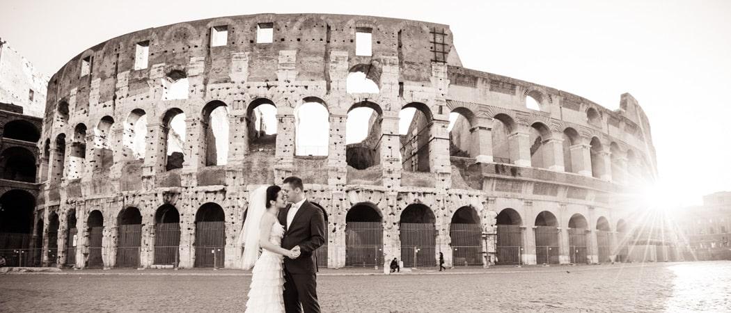 Свадебная фотосессия в Риме в сентябре для Анны и Кирилла