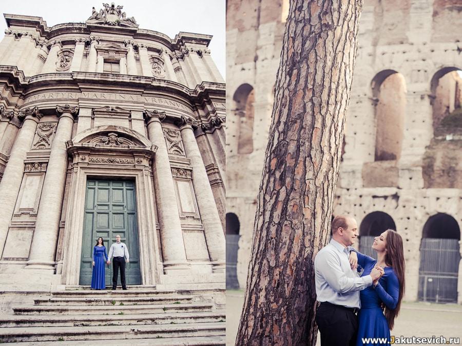Январь, фотосессия в Риме