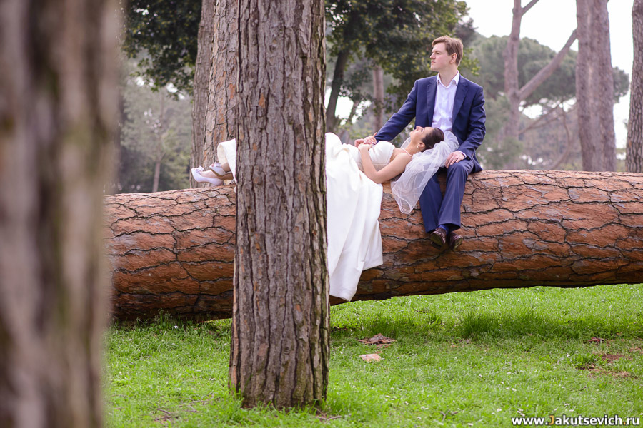 Свадебная фотосессия в Риме в марте для Ирины и Александра