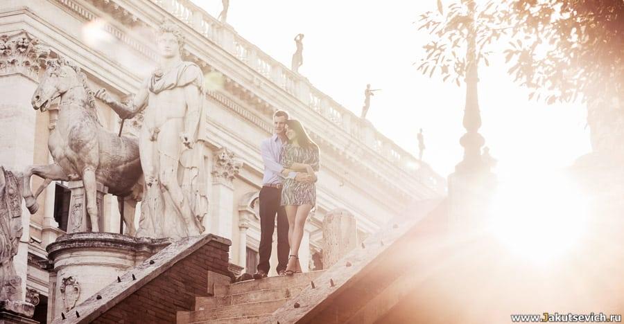 прогулка по Риму на рассвете