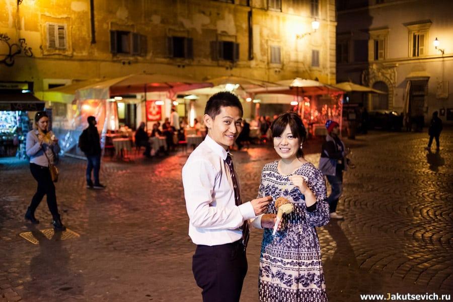 Италия мороженное Рим