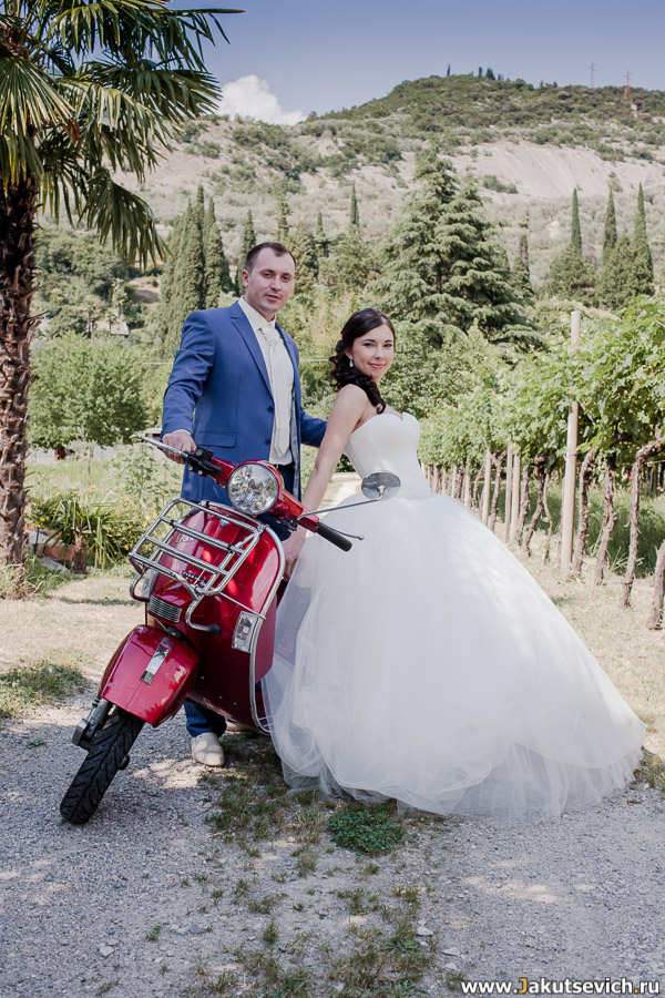 Фотографии с Веспой свадьба