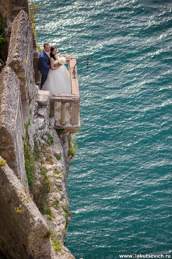 Красивые свадебные фотографии озеро Гарда Италия