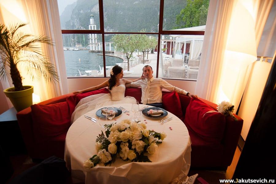 Ресторан на свадьбу озеро Гарда