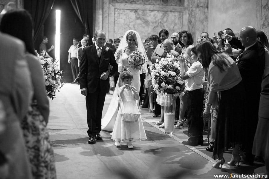 Католическая свадьба в Риме