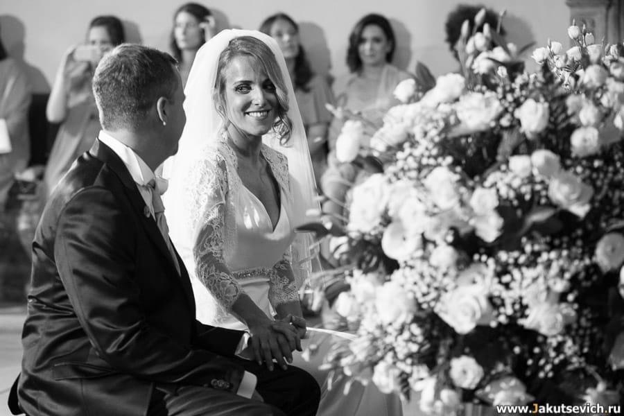 Свадьба в Италии Франчески и Джеймса: 20 фото мгновений