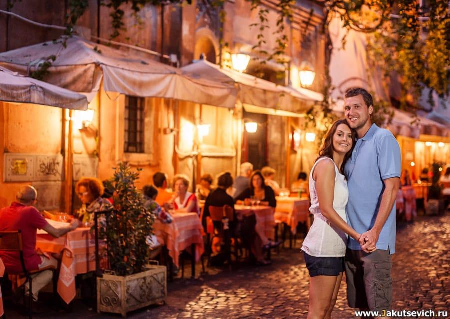 Ночной Рим фотосессия
