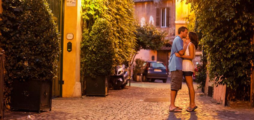 Ночной Рим: фотосессия в районе Трастевере для Холли и Джордана