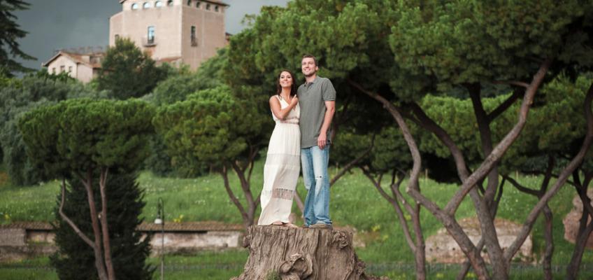 Прогулка по Риму в июле: фотосессия для Холли и Джордана