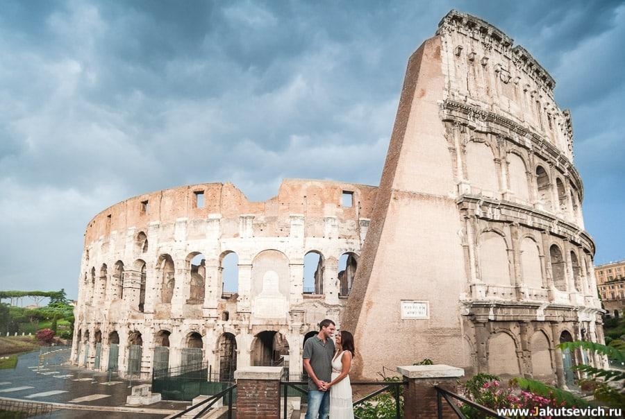 фотосессия у Колизея