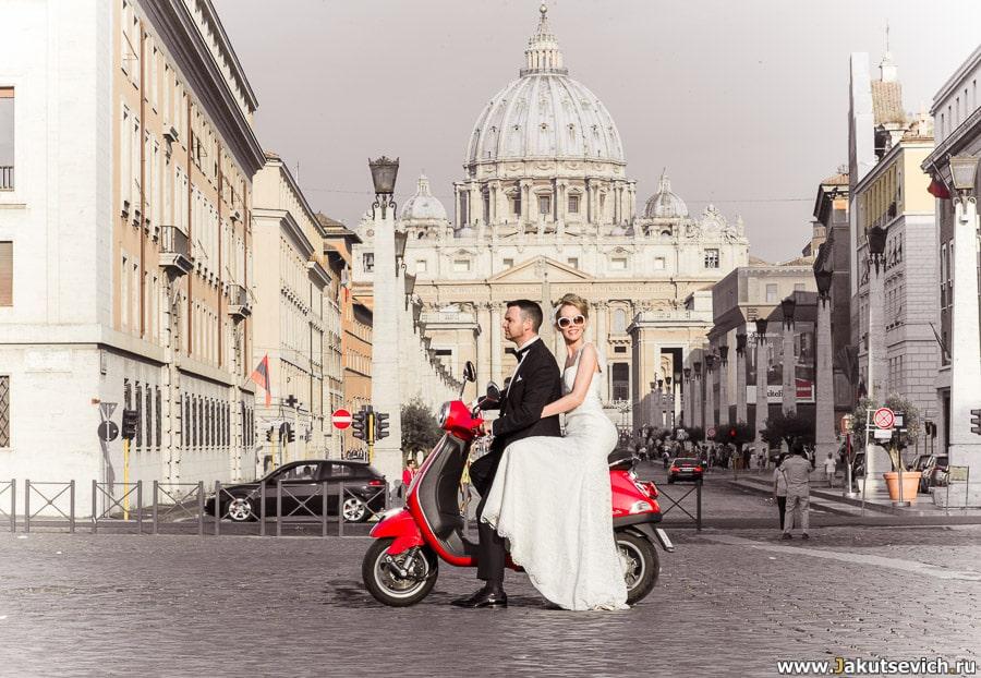 Рим в июне: свадебное путешествие Карен и Грема