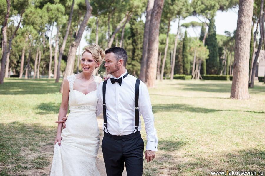 Свадебное путешествие в Рим летом