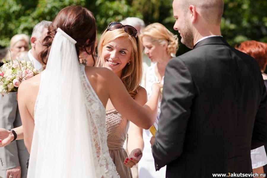 Первые поздравления со свадьбой