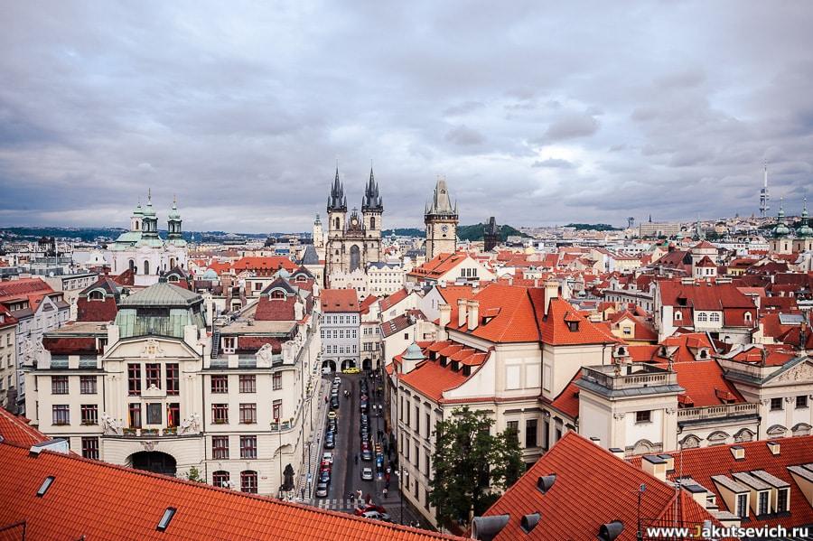 Панорама центра Праги