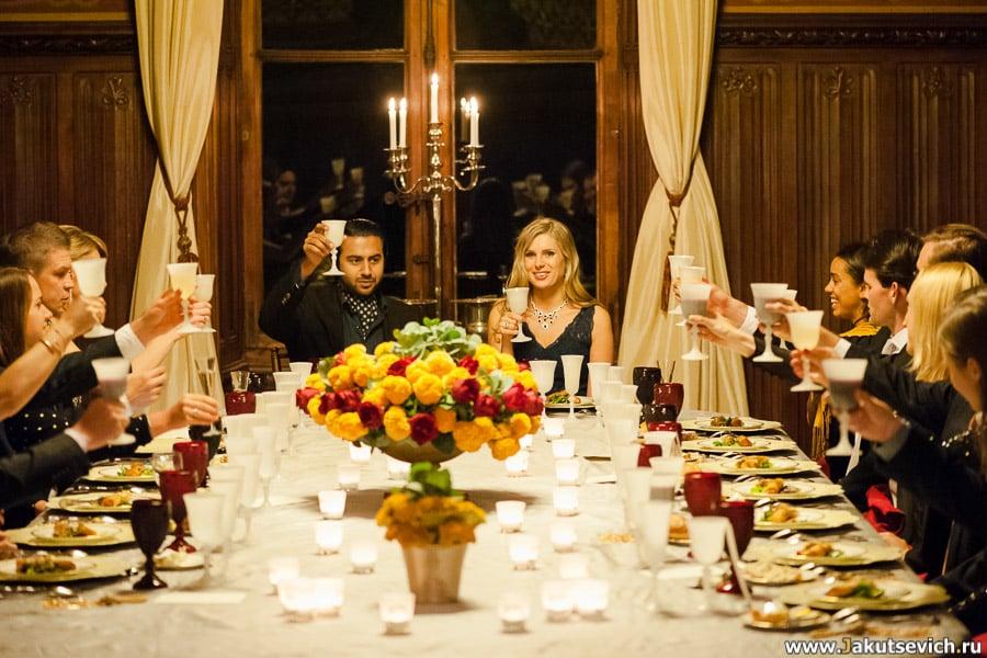 Предсвадебный ужин в замке Франции