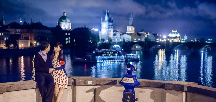 Love Story в Праге в сентябре для Лии и Вейчанг