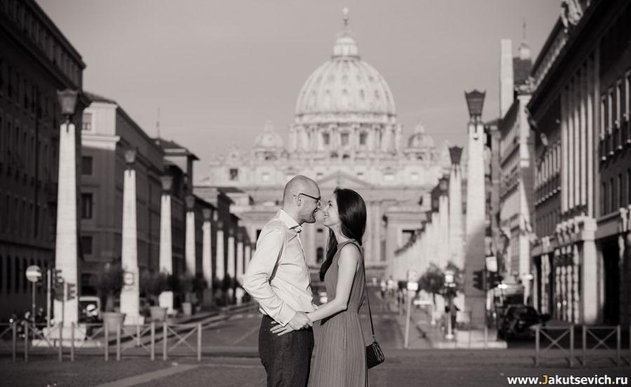 Love story в Риме в апреле для Ольги и Даниэля