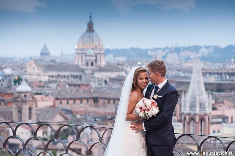 Панорама Рима со смотровой площадки на вилла Боргезе