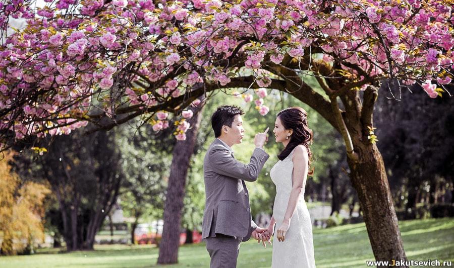 Свадебная фотосессия в Риме в апреле для Серены и Раяна