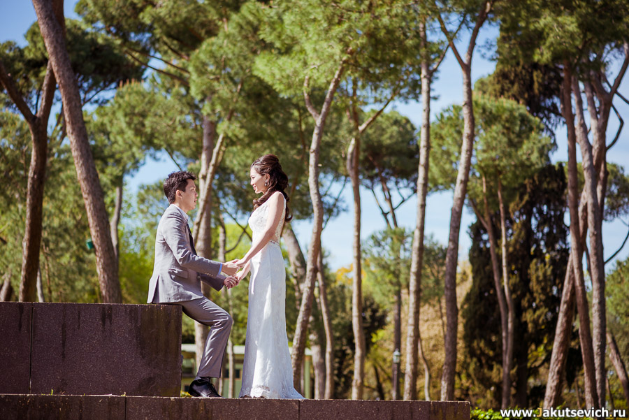 Фотосессия на свадьбу в Риме