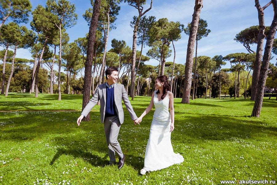 Рим свадебная фотосессия