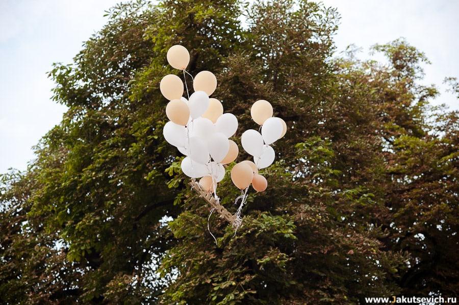 Воздушные шарики с фамилией невесты