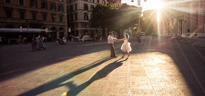 Свадебная фотосессия в июне в Риме Юлии и Романа