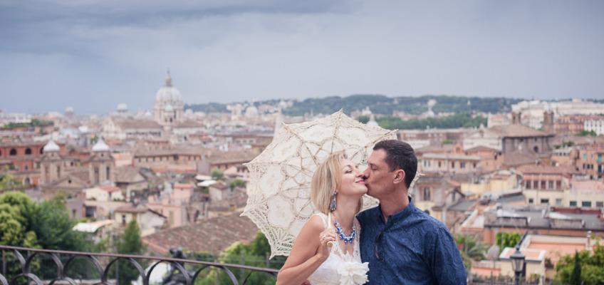 Свадебная фотосессия в Риме в июне для Ирины и Григория