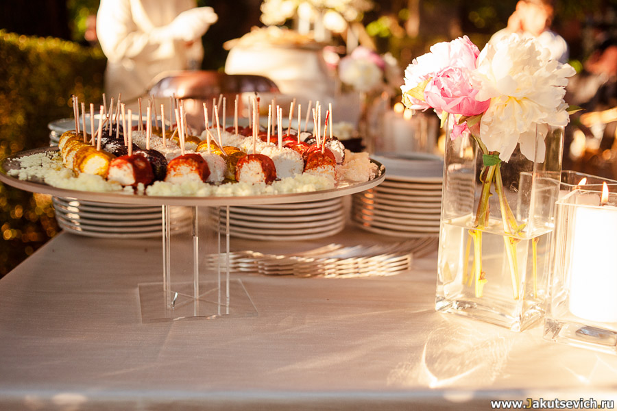 Закуски на свадьбу в Италии