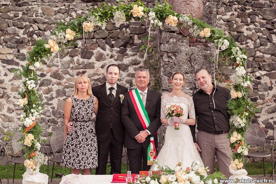 Официальная церемония регистрации брака в Италии