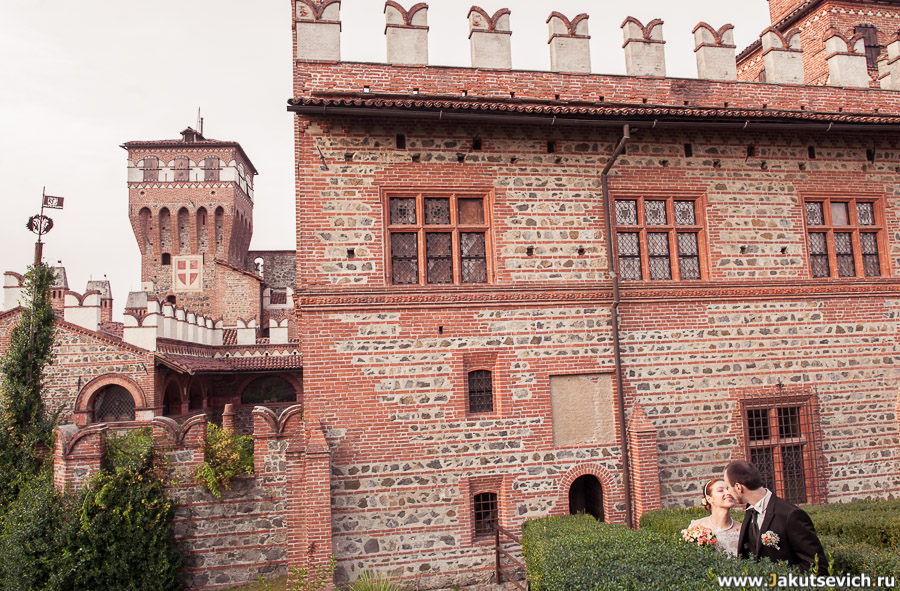пример свадебной съемки в замке