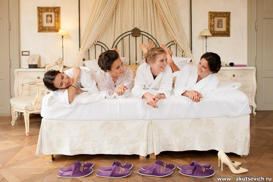 подружки невесты в Шато Мцелы