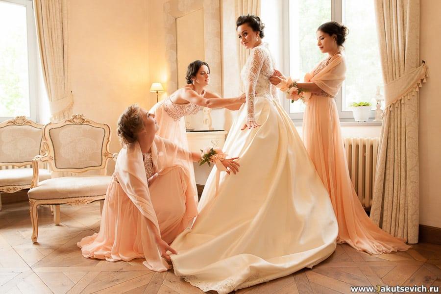 сборы невесты на свадьбе в Чехии