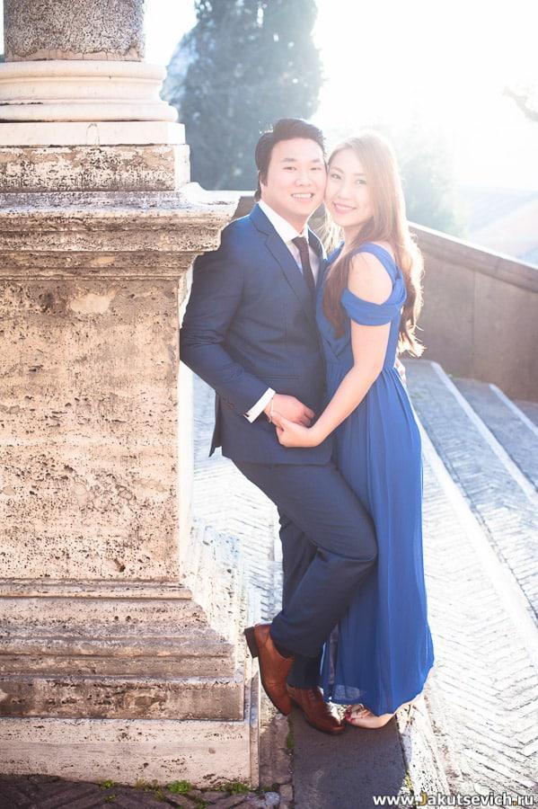 Портрет жениха и невесты в Риме