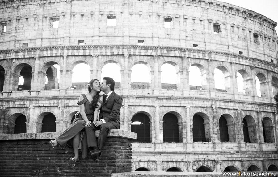 Свадебная фотосессия Колизей Рим