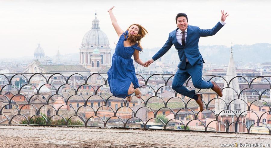 Свадебная фотосессия в Риме Дорен и Джейсона