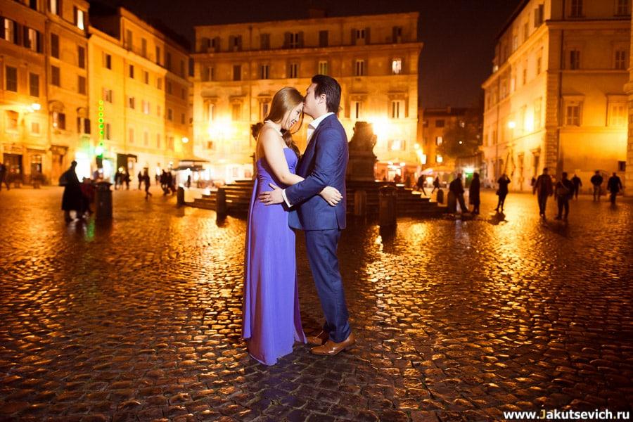Свадебная фотосессия в Риме январь