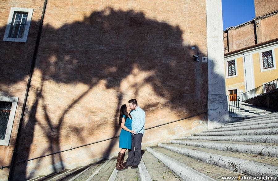 Фотосессия в Риме на годовщину свадьбы