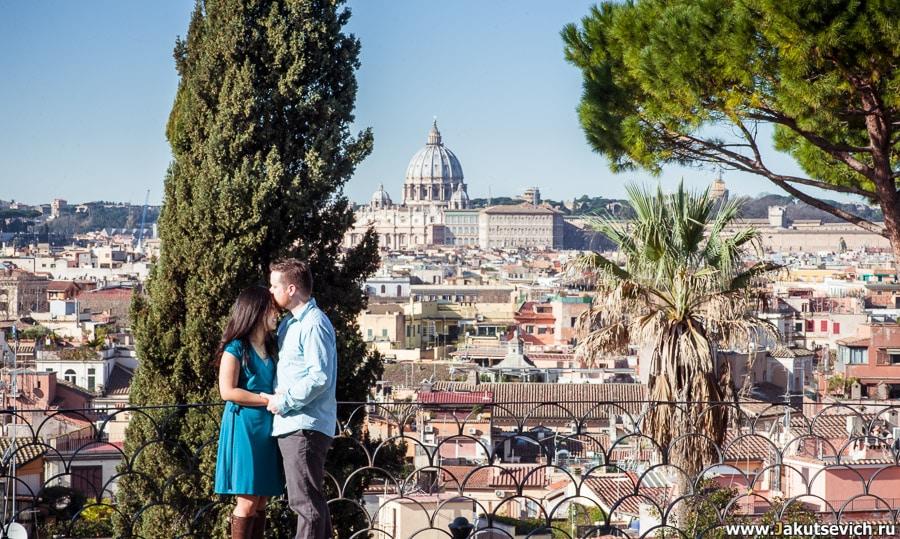 Годовщина свадьбы фотосессия в Риме