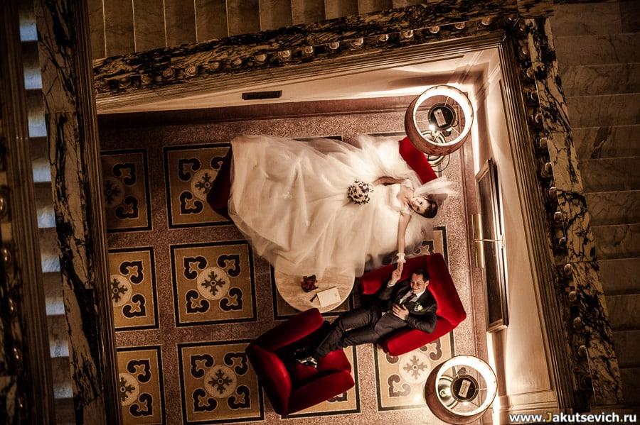 Свадебная фотосессия в римском отеле Grand Hotel Plaza