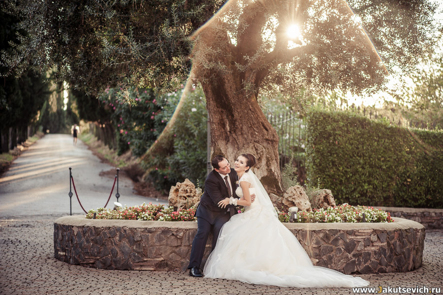 Жених и невеста в Италии