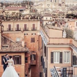 Свадьба в Риме в августе Дианы и Александра: из Казахстана с любовью
