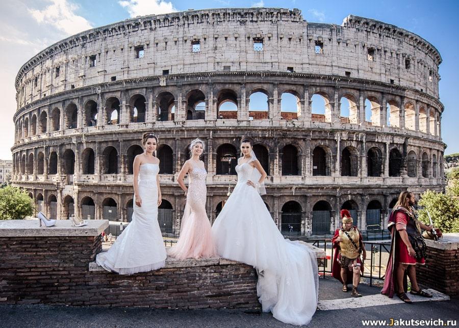 Фотосессия у Колизея с гладиаторами