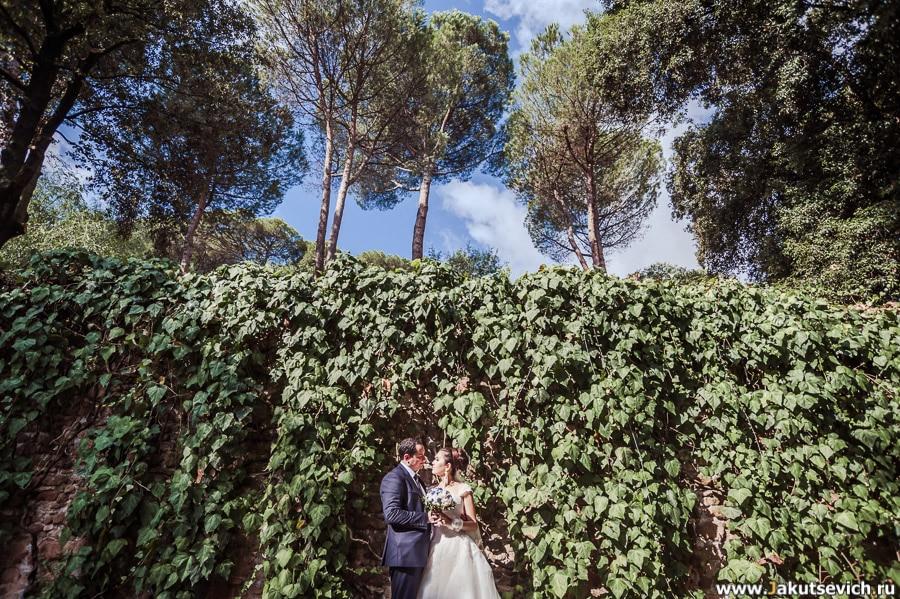 жених и невеста в Риме