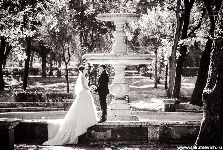 свадебная фотосессия на Вилла Боргезе