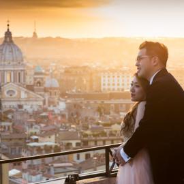Ночная фотосессия в Риме в марте для Агнес и Карсона