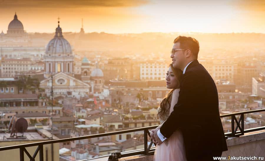 фотосессия в Риме отель Hassler Roma